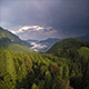Flying Over the Epic Forest Before a Storm