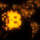 Bitcoin World Map Gold