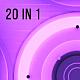 VJ Purple Glowing Discs