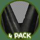 3D Halloween Curtains Ver.1 - 4 Pack