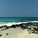 Gentle Waves On Sand And Black Lava Rock Shore Kona Hawaii