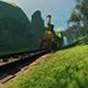 Vintage Steam Locomotive Rides in the Park