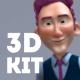 Corporative 3D Character Animation Kit
