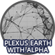 Earth - Black and White Plexus With Alpha