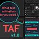 TAF v1.0 - Pro Text Animator for AE