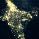India Map at Night HD