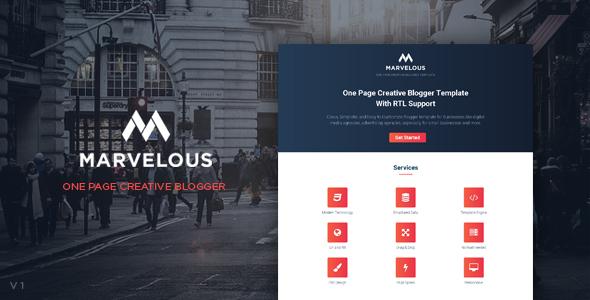 One Page Blogger Template Website Templates From Themeforest