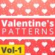 Valentine Hearts Animated Patterns Vol-1