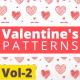 Valentine Hearts Animated Patterns Vol-2