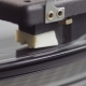 Old Vinyl Turntable Playing Music