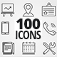 100 Clean Line Icons Pack