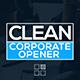 Clean Corporate Opener