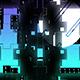 Blue Neon Glitch Transitions