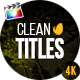 Gold Clean Titles For Final Cut Pro X