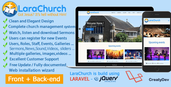 , LaraChurch 2.0 – Complete Church Management System, Laravel & VueJs, Laravel & VueJs