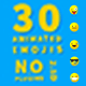 30 Animated Emojis 2.5D (No Plugins)