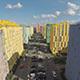 Drone Flying over Elite Real Estate City Block