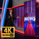 News Virtual Studio Set
