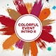 Colorful Event Intro II    After Effects Template