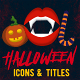 Halloween Motion Icons & Titles