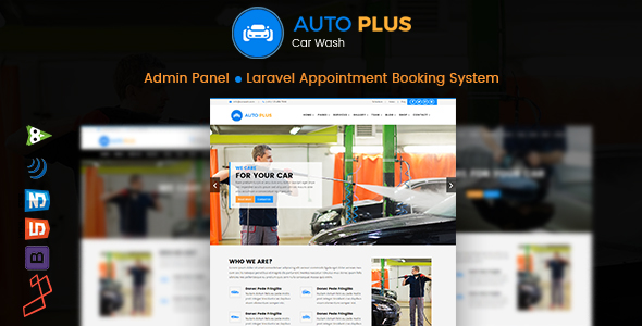 , Auto Plus – Laravel Car Wash Booking, Laravel & VueJs