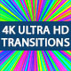 Transitions Pack Vol.2/ 4K Ultra HD Elements/ Colorful Style/ Geometric Dinamic or Rhythmic Mood
