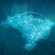 Globalization Brazil Map Animation HD