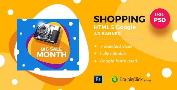 On-line Shopping   HTML5 Google Banner Advert 24 - PHP Script Download 1