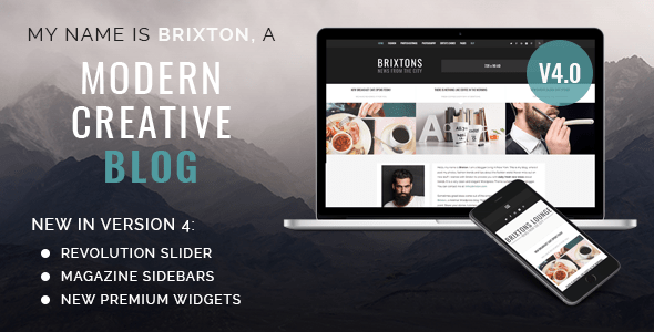 brixton wordpress blog theme version 4 normal version. large preview