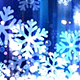 Abstract Royal Blue Christmas Snowflakes Abstract Background