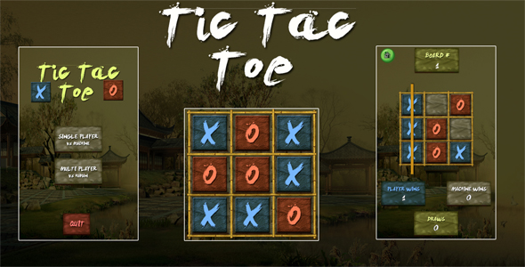 Tic Tac Toe Ninja Unity3D Project + Android iOS Enhance + ADMOB + Gripping to Release  - PHP Script Download 1