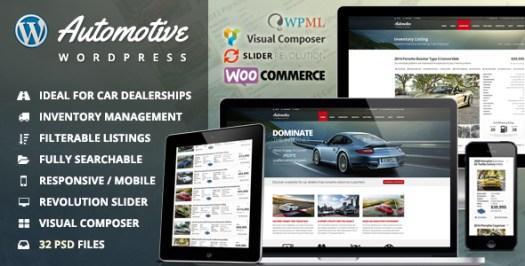 Thème WordPress pour entreprise de concessionnaire automobile