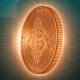 Bitcoin Digital Cryptocurrency Background
