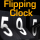 Flipping Clock - 3D counter with split flap / flip digit numbers