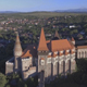 Flying Over Medieval Castle In Transylvania