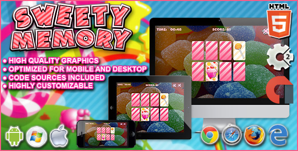 Sweety Reminiscence - Catch 2 HTML5 Game - PHP Script Download 1