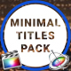 9 Minimal Titles Pack for FCPX