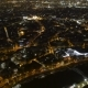 Aerial of Paris at Night with Golden Embankments of the Seine in Autumn