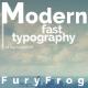 Modern Fast Typography