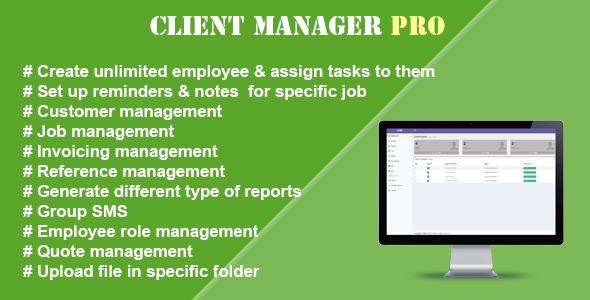 , Client Manager Pro, Laravel & VueJs