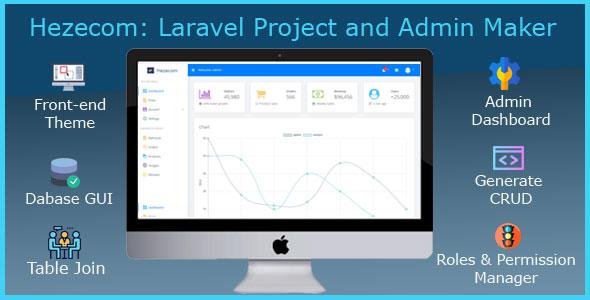 , Hezecom: Laravel Project and Admin Maker, Laravel & VueJs