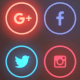 Social Media Pattern Neon Background