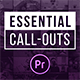 Essential Callouts Library | MOGRT for Premiere