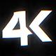 4K Glitch Logo