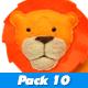 Cute Jungle Animals Cartoon Pack 10