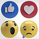 2K Facebook Emojis Reactions