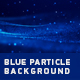 Blue Particle Background