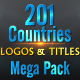 201 World Countries Logo & Titles - Mega Pack