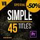Gold Simple Titles (Special Edition) for Premiere