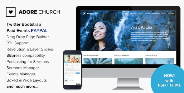 AdoreChurch - Responsive WordPress Theme